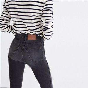 "MADEWELL Tall Black 9"" High-Rise Skinny Jeans"